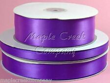 Double Face PURPLE 100% Polyester Satin Ribbon Assorted Sizes