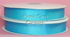 TURQUOISE Grosgrain Ribbon Roll ASSORTED WIDTHS Sewing and Decorating