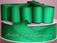 EMERALD Grosgrain Ribbon 50 yard roll ASSORTED WIDTHS Sewing and Decorating