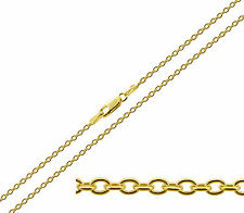 CLEARANCE - 9ct Yellow Gold 1.6mm Diamond Cut Trace Belcher Chain - DISCOUNTED