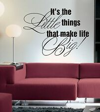 It's the little things wall art sticker quote Living room / Bedroom /hallway-093