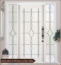 ALLURE Privacy Frosted Window & Door Film with Leaded Glass Look - Static Cling