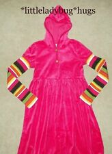 NWT Gymboree FALL FOR AUTUMN Pink Velour Winter Hoodie Dress Girls Size 12 R1264
