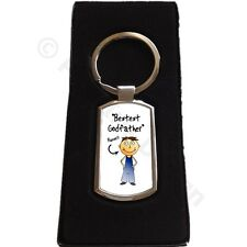 Personalised Godfather | Godmother | Godparent Metal Keyring Gift