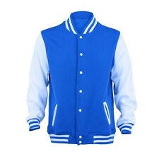MENS VARSITY BASEBALL SWEATER JACKET - COLLEGE STYLE LETTERMAN NEW S M L XL XXL