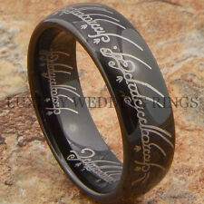 Tungsten Lord The Ring Wedding Band Black LOTR Bridal Hot Jewelry Size 6-13