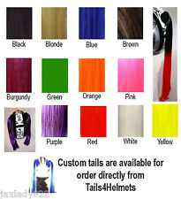 Pigtails for Motorcycle and Other Helmets - Select from 13 colors - Ponys too!