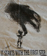 It Starts With The First Step T- Shirt  AA NA XA Slogan Jonathan Rogers Design