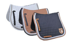 HKM Valence Check Dressage Saddle Cloth/Saddle Pad - Quick Dry Breathable Lining
