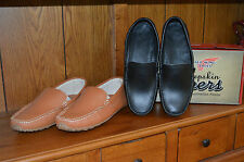 NEW MENS RED WING DRIVING MOC MOCCASIN SHOE SLIPPER LOAFER LEATHER BROWN BLACK