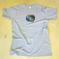 Earth design, Men's new 100% organic cotton,super soft, environmental t-shirt
