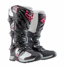 Fox Racing Womens Ladies Girls Comp 5 Boot Black/Pink Motocross Mx Atv Off Road