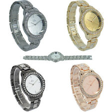 NY London Ladies Girls Watch Mirror Dial Crystal Bezel Summer Fashion Toy & Joy