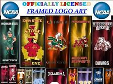 "AWESOME COLLEGE LOGO IN A FRAME-9.5""x 21.75""-NCAA FRAMED LOGO ART-SCHOOLS A-L"