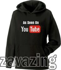AS SEEN ON YOU TUBE KIDS HOODIE HOODY YOUTUBE MUSIC ACTING BROADCAST YOURSELF