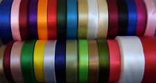 Satin Ribbon 3mm 6mm 10mm 16mm 19mm 25mm 38mm 50mm Many Colours