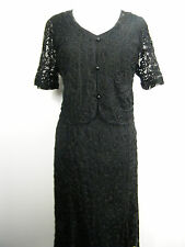 FAB BLACK LACE LACY DRESS AND JACKET SUIT, BRAND NEW SIZE 12 14 16 18 20 22