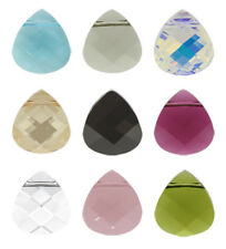 SWAROVSKI ELEMENTS 6012 Briolette Flat Pendant 15.4x14mm  Many Colors
