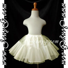 #U51 Petticoats Underskirts for Flower Girls/Formal/Pageant, Ivory 0-16 Years