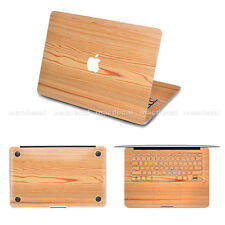 Wood Macbook KeyboardDecal Pro Bottom Sticker Air EntireTop Skin Cover Protector