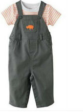 * NWT NEW BOYS CARTERS 2PC Overalls DOG OR RINO OUTFIT SET 3m 6M