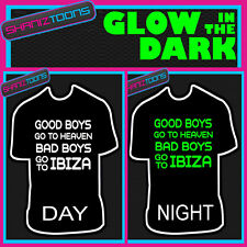 IBIZA LADS FUNNY STAG PARTY HOLIDAY CLUB GLOW IN THE DARK PRINTED TSHIRT