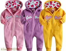 Spring and Autumn cotton hooded baby zipper models leotard leisure 3 colors
