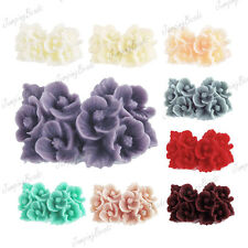 Flower Cabochons Resin 26x17mm vintage cameo Style flatback for rings FAST SHIP