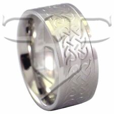 Stainless Steel Celtic Knot Ring Wedding Band Rings Size 6.5, 7.5, 8, 9 Jewelry