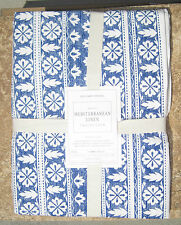 "WILLIAMS-SONOMA ~ NAPPE MEDITERRANEAN LINEN TABLECLOTH 70"" X 90"" or 70"" X 108"""