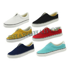 Unisex Canvas Pumps Shoes Unisex Slip On Flat Espadrilles Casual Plimsolls Women