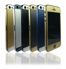 Two Tone Brushed Metal Edition Skin For iPhone 5 5s Wrap Decal Sticker Cover