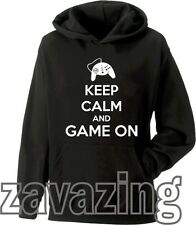 KEEP CALM AND PLAY ON UNISEX HOODIE GAMER PRESENT XBOX PS3 MINECRAFT ZELDA VIDEO