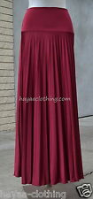 CRANBERRY RED ~ Hayaa' Pleated Long Maxi Skirts Foldable Waist S M L Xl 2X 3X 4X
