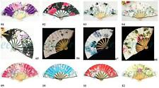 HAND MADE CURVE RIBS SILK BAMBOO FAN 12 kinds of mode 、Convenient hand fan