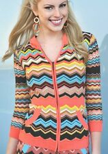 NEW! Missoni for Target - Girls HOODIE Hooded Sweater Cardigan Colore Orange