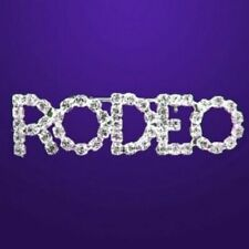 COWGIRL RODEO Brooch Pin Western Cowgirl Horse Barrel Racing Crystal Mom Jewelry