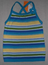 Gymboree SEA SPLASH Blue Green Yellow Striped Sweater Gem Flower Tank Top NWT