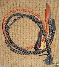 Indiana Jones Style Hand Made Braided Cow Hide Leather WHIP FALL BULLWHIP
