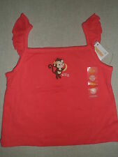 Gymboree ALOHA SUNSHINE Coral Pink Silly Monkey Ruffle Tank Tee Top Shirt NWT