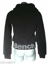 BENCH Black Baa Fleece Zip Up Jacket Top Hoody Coat Fully Lined BENCH  XS S M L