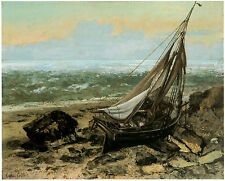 The Fishing Boat; 1865 - GUSTAVE COURBET -Great Maritime Art