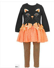 * NEW GIRLS RARE EDITIONS CAT Dress HALLOWEEN OUTFIT SET 2T 3T 4T 6 6x