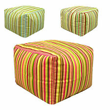 Goa Stripe Large Beanbag Square Seat Footstool Pouffe Ottoman New footrest