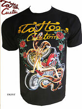 Skull Tattoo Art Custom Biker Angel Fashion Funky Babe Minute Mirth Tshirt Cd4