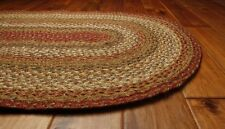 Homespice Hudson Mustard Seed Jute Braided Area Rug Country Home Decor