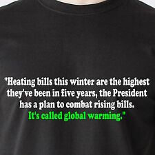 Has a plan to combat rising bills. Its called global warmig  retro Funny T-Shirt