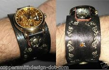 Steampunk Pirate Victorian Edwardian Cosplay bracelet watch with scrollwork