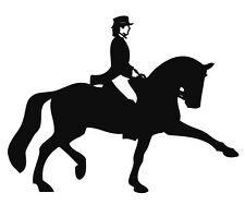 NEW Black Horse and Rider Shaped Car Lorry Horsebox Stable Yard Stickers