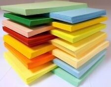 25 SHEET 170gm A3 COLOURED CARD CHOICE OF 12 COLOURS PASTELS INTENSIVES CREAMS